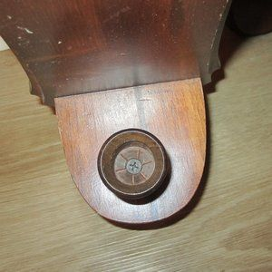 Vintage Accents - Vintage Home Interior Wooden Candle Holder (2)
